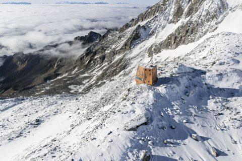 Schutzhütte mit  Panoramablick