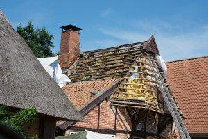 Dachstuhl vor Sanierung